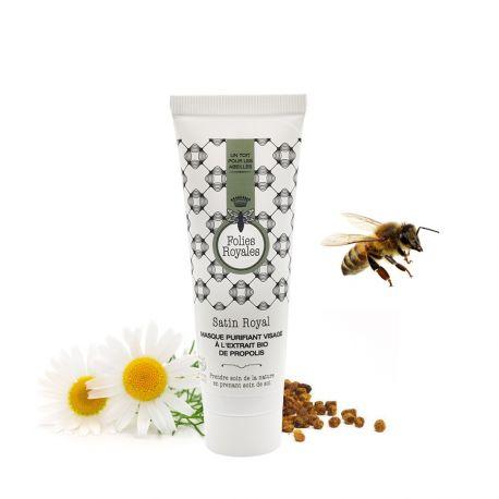 Satin Royal- Masque purifiant visage à l'extrait bio de propolis