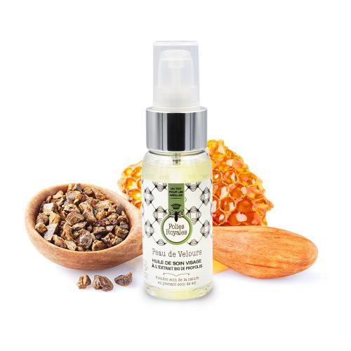 Huile de soin visage à l'extrait bio de propolis - 50 ml