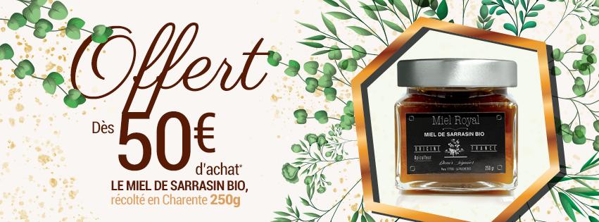 Un pot de miel de sarrasin bio offert dès 50€ de commande