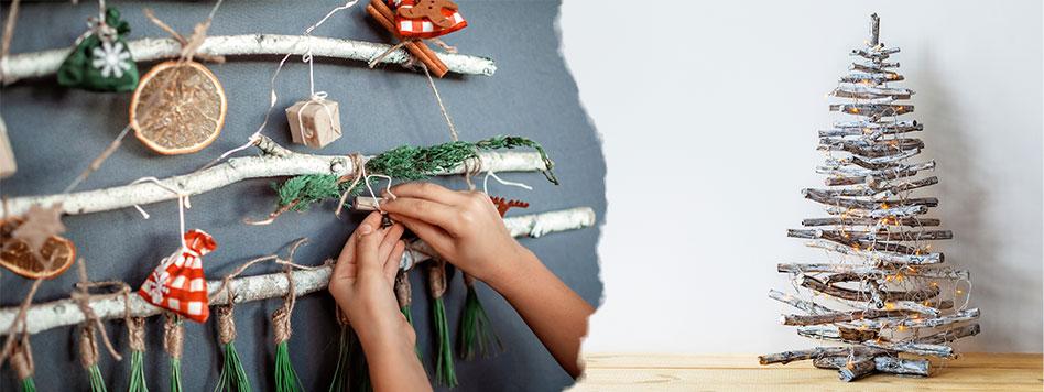 Astuce pour un noël écologique: Sapin fait maison en bois