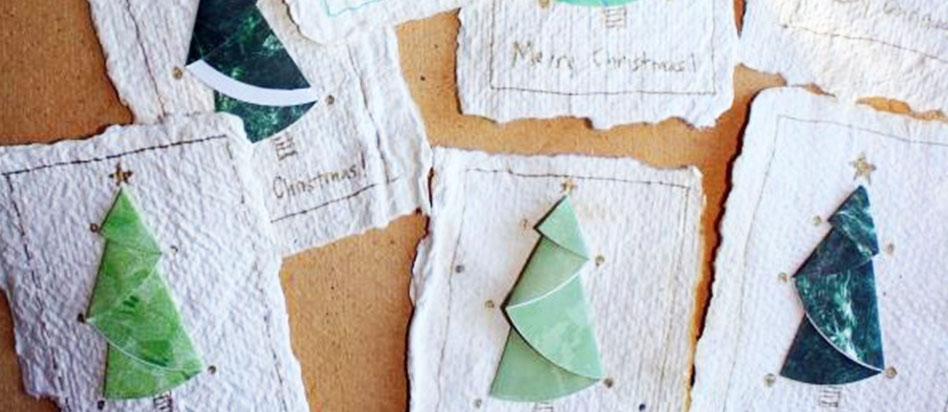 Astuce pour un noël écologique : Cartes de vœux recyclables ensemencées
