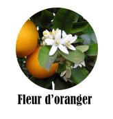 ingrédients notables eau florale d'oranger