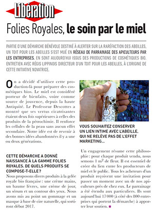 article Folies Royales  Journal Libération