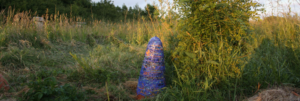 ruche argile mosaique